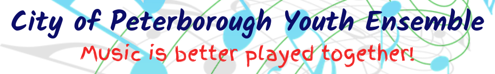 City of Peterborough Youth Ensemble, site logo.