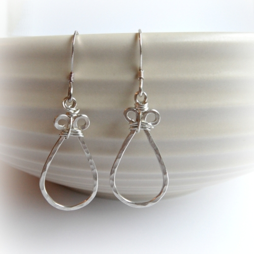 Tear Earrings - in silver