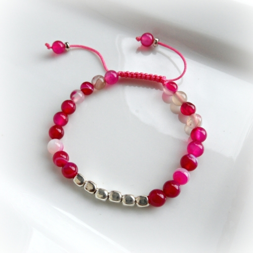 Pink Agate Friendship Bracelet