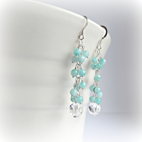 Mint Cluster Earrings