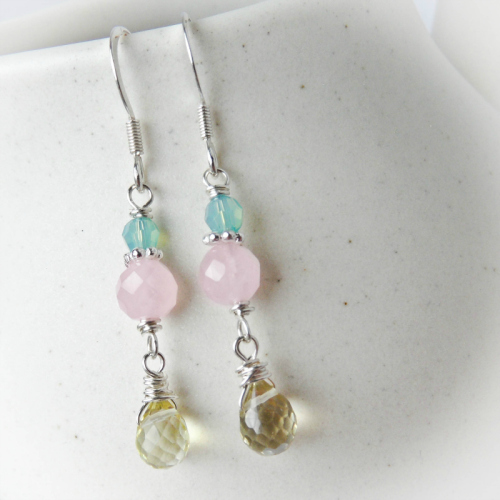 Pastel Quartz Earrings