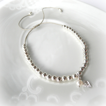 Silver Bead Friendship Bracelet - 4mm