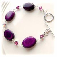Blackcurrant Turquoise Bracelet