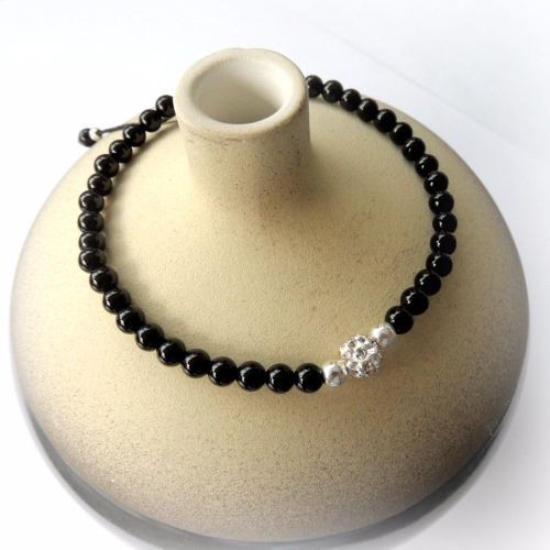 Black Agate Friendship Bracelet 4mm