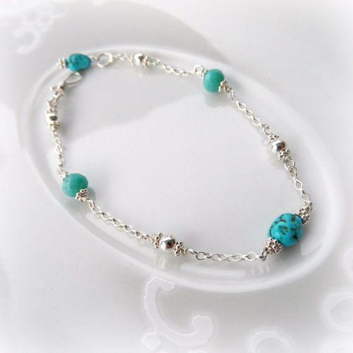 Aqua Nugget Bracelet