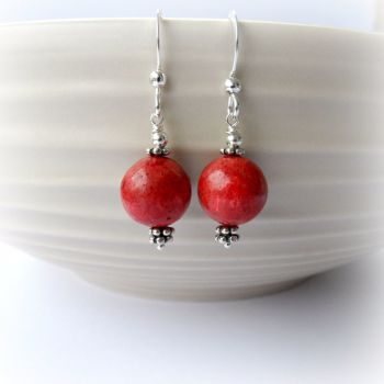 Coral Bali Earrings