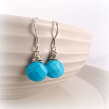 Turquoise Briolette Earrings