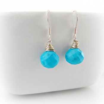 Turquoise briolette earrings 2b_1000px