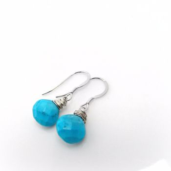 Turquoise briolette earrings 3b_1000px