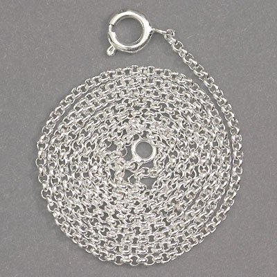 Sterling silver plain chain 16