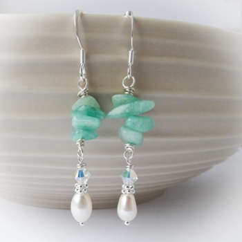 Amazonite Mint Earrings
