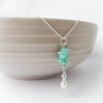 Amazonite Mint Necklace