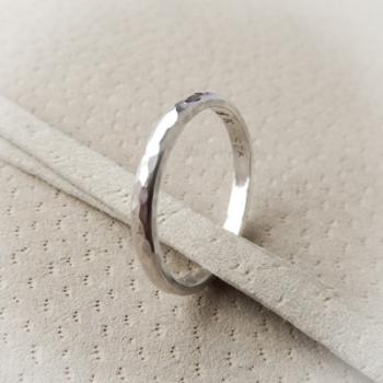 Silver Beaten Ring 925