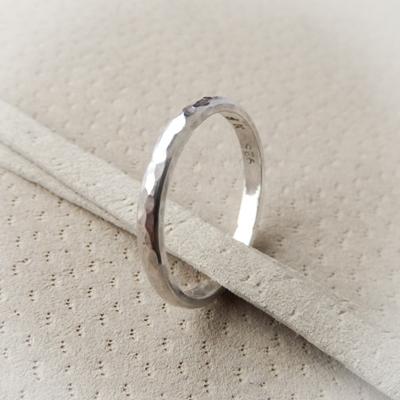 Silver Beaten Ring