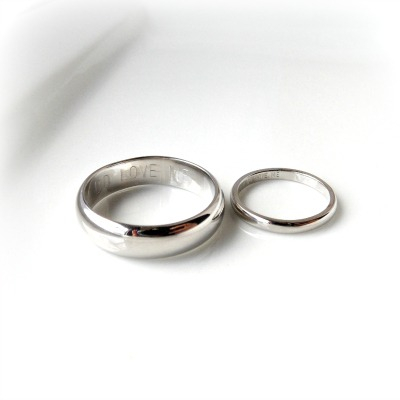 James & Mathilde White Gold Wedding Rings