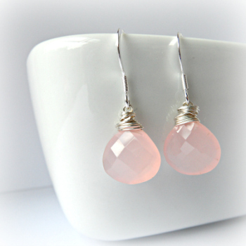 Chalcedony Blush Earrings