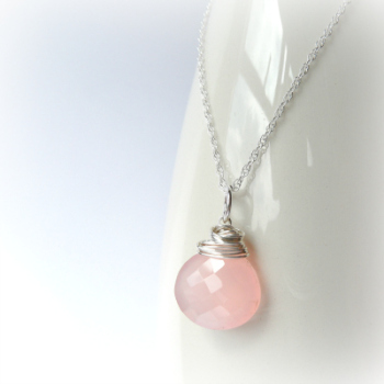 Chalcedony Blush Necklace
