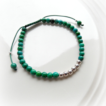 Chrysocolla Friendship Bracelet