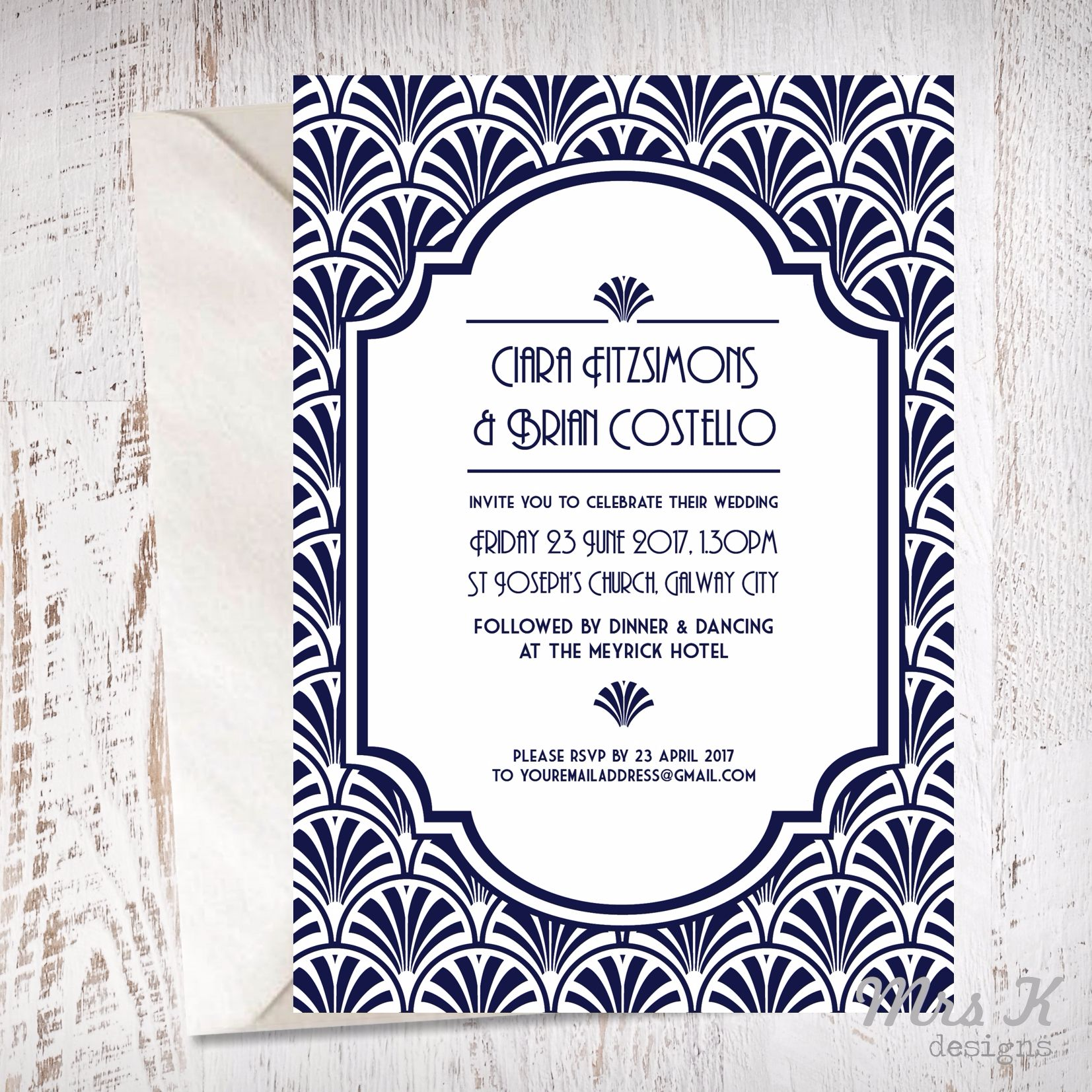 Art Deco Invitation Web
