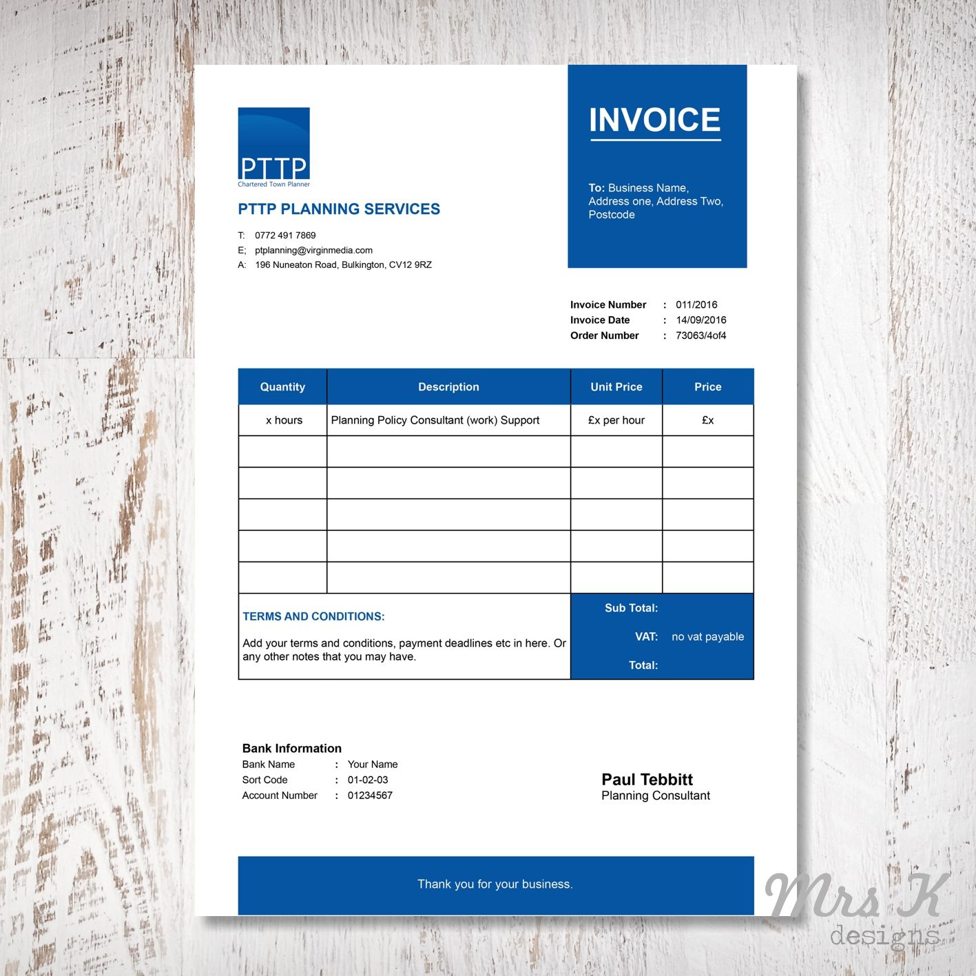 PTTP Invoice