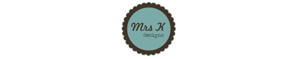 Mrs K Designs | wedding stationery & business design, site logo.