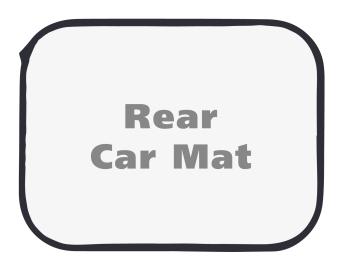 brilliance blank rear car mat