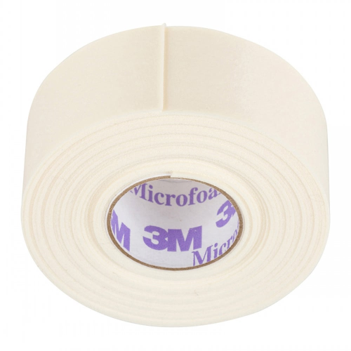 3M Microfoam Tape - 1 Roll - Perfect for Under Eyes (2.5 cm Width x 5 Metre