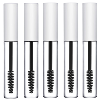 5 x Empty Mascara Tubes MATTE WHITE 10ml