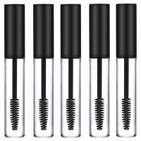 5 x Empty Mascara Tubes BLACK 10ml