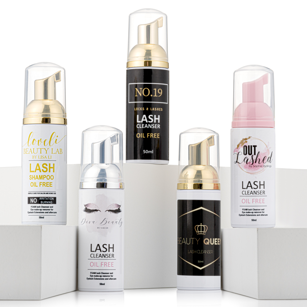 50ml Lash Shampoo / Lash Foaming Cleanser - Pack of 20 (Own Logo)