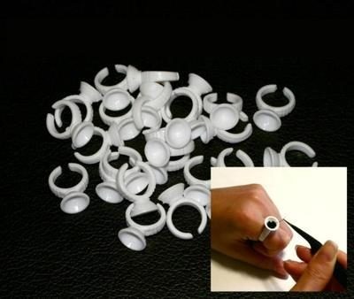 Pack of 100 Disposable Glue Rings for Individual Eyelash Extensions