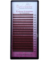 Eyebrow Extension Tray, Colour Red Brown, 0.10mm Thickness, Lengths 4-8mm