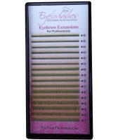 Eyebrow Extension Tray, Colour Gold, 0.10mm Thickness, Lengths 4-8mm