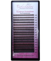 Eyebrow Extension Tray, 2 Colour Mix Dark Brown & Brown, 0.10mm Thickness, Lengths 4-7mm