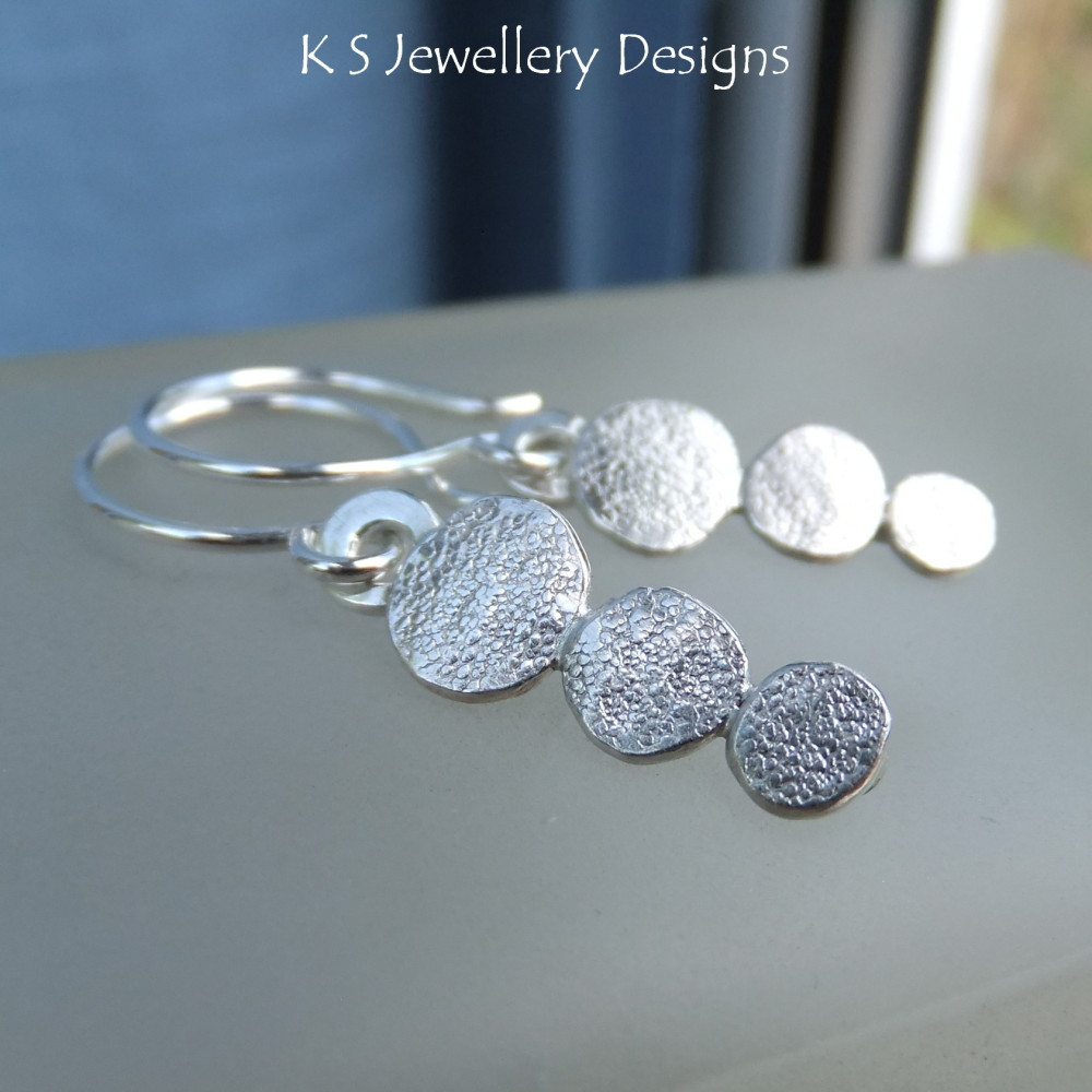 Stepping Stones Sterling Silver Earrings (made to order)
