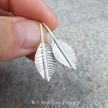 Leaf earrings 2