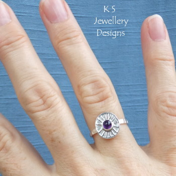 Amethyst sunburst ring 4