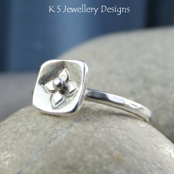 Blossom stamped ring 2