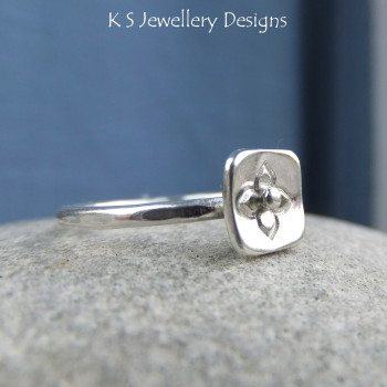 Blossom stamped ring 3