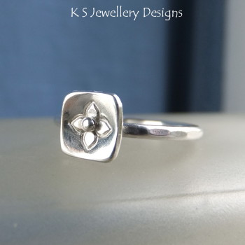 Blossom stamped ring 4