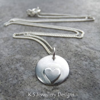 LIttle Heart Disc Pendant 1