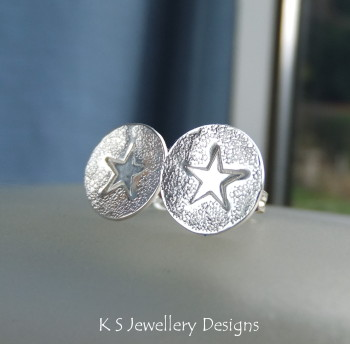 Stamped star studs 3