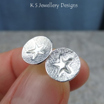 Stamped star studs 1
