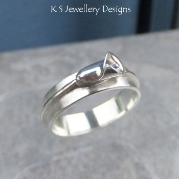 Calla Lily Sterling Silver Ring (made to order)