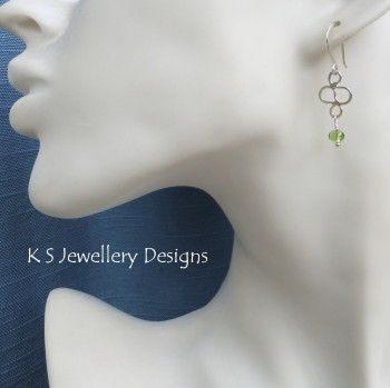 Peridot Squiggle Earrings 3