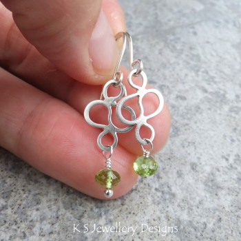Peridot Squiggle Earrings 5