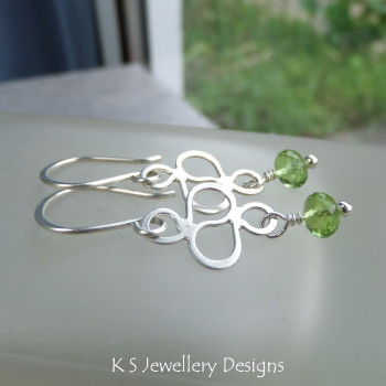 Peridot Squiggle Earrings 4