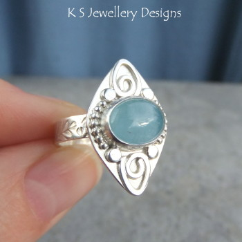 Aquamarine ring 5