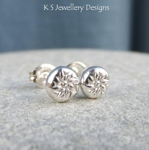 Sterling Silver Stud Earrings - Blossom Pebbles