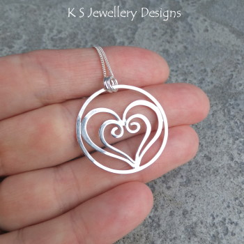 Heart in heart pendant 2